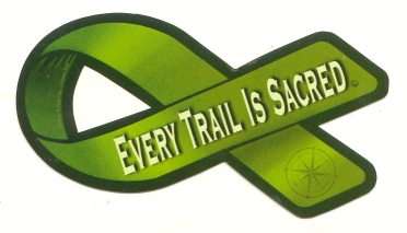 Every trail is Sacred sticker 4.5